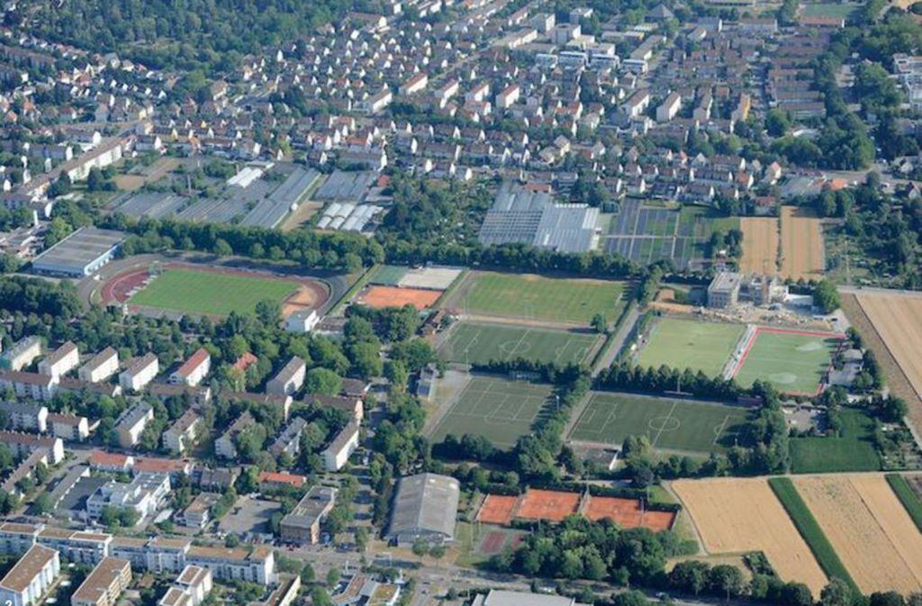 Der Sportpark in der Ludwigsburger Oststadt  wird in den nächsten Jahren umgekrempelt. Nördlich des Stadions entsteht ein großes Wohngebiet. Foto: Stadt Ludwigsburg