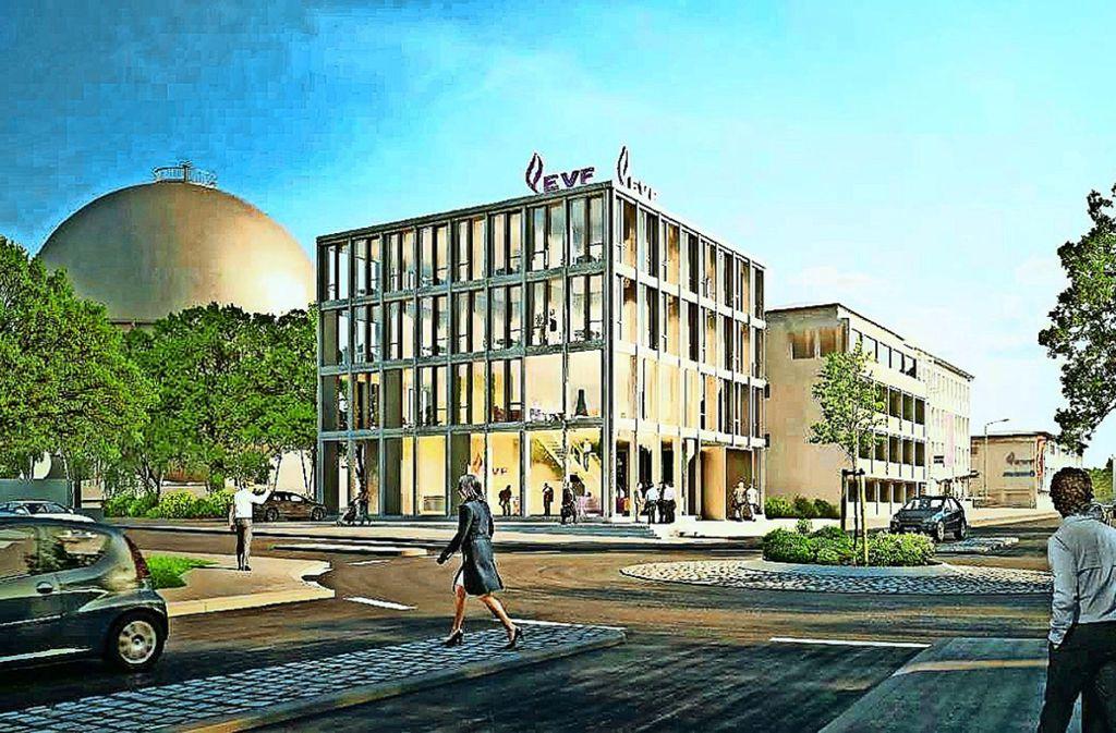 Das Kundenzentrum, das jetzt am Göppinger Stadtrand gebaut wird, steht  für Transparenz und Kundennähe. Foto: architekturbüro blocher partners