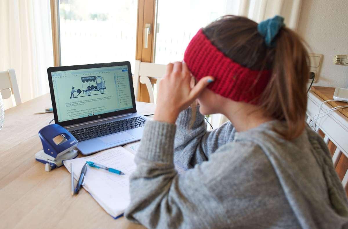 Lernen am Bildschirm: Die Fernsehsender wollen die Schülerinnen und Schülern im Lockdown unterstützen. Foto: imago images