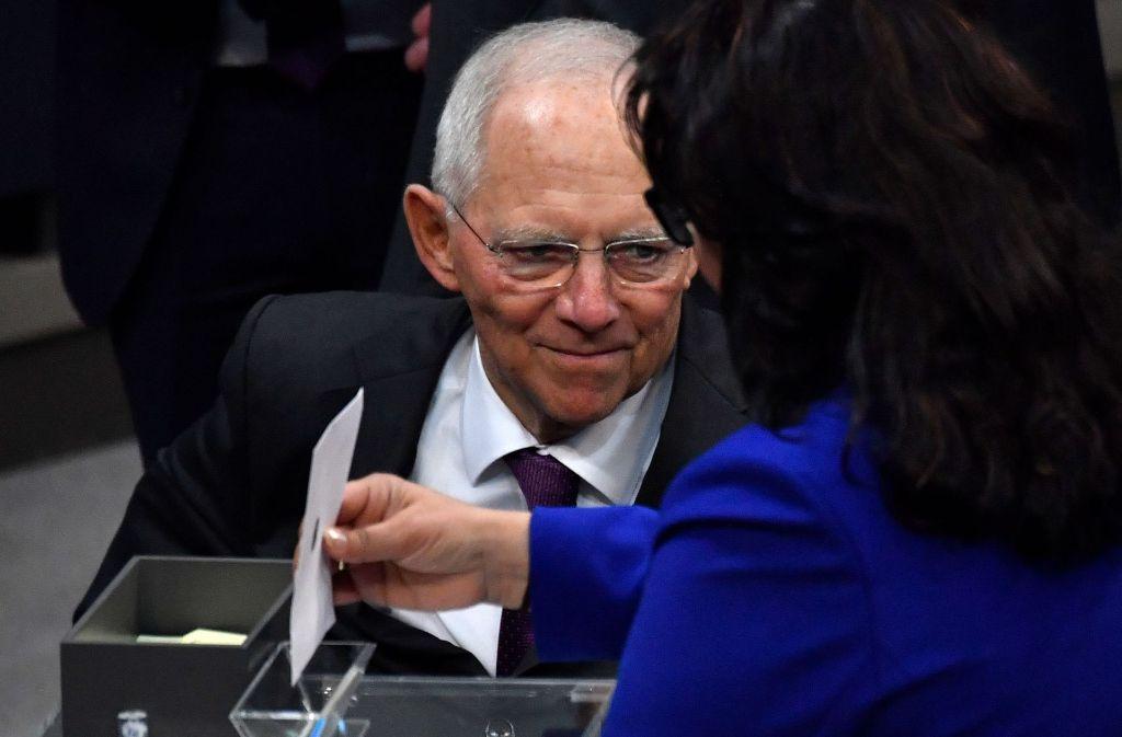 Wolfgang Schäuble ist der neue Bundestagspräsident. Foto: AFP