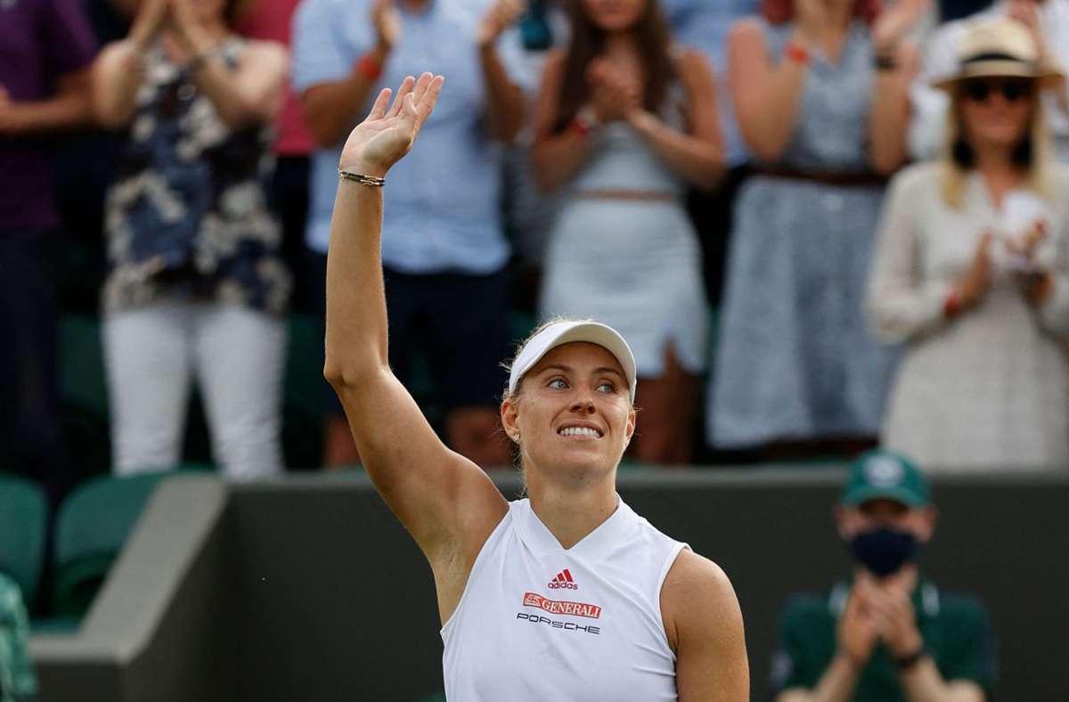 Angelique Kerber in Wimbledon Foto: AFP/ADRIAN DENNIS