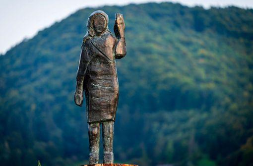 Diese  Statue von Melania Trump hat eine kritische Botschaft