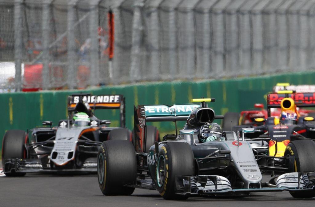 Nico Rosberg ist noch nicht Formel-1-Weltmeister. In Mexiko war Lewis Hamilton schneller. Foto: AP