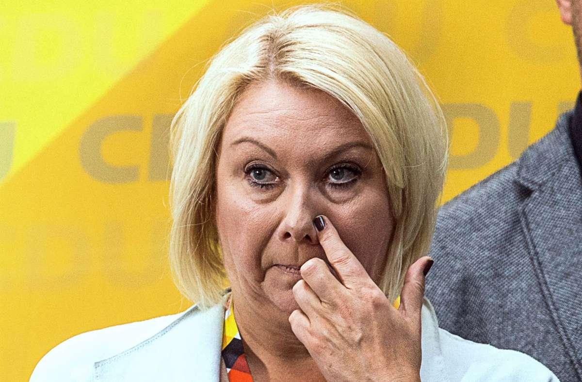Die verstorbene Abgeordnete Karin Strenz (Archivbild) Foto: dpa/Jens Büttner