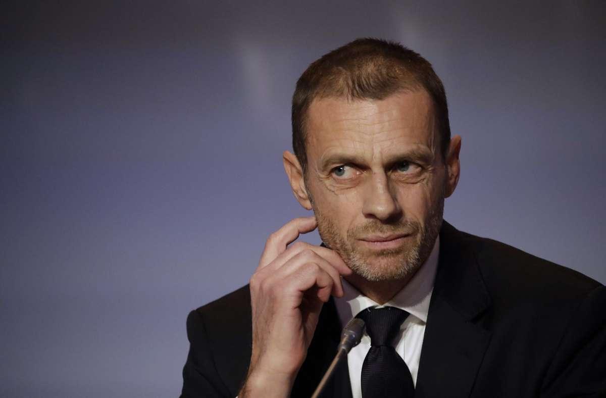 UEFA-Präsident Aleksander Ceferin hält sich seit Beginn des Turniers merklich zurück. Foto: AP/Alessandra Tarantino