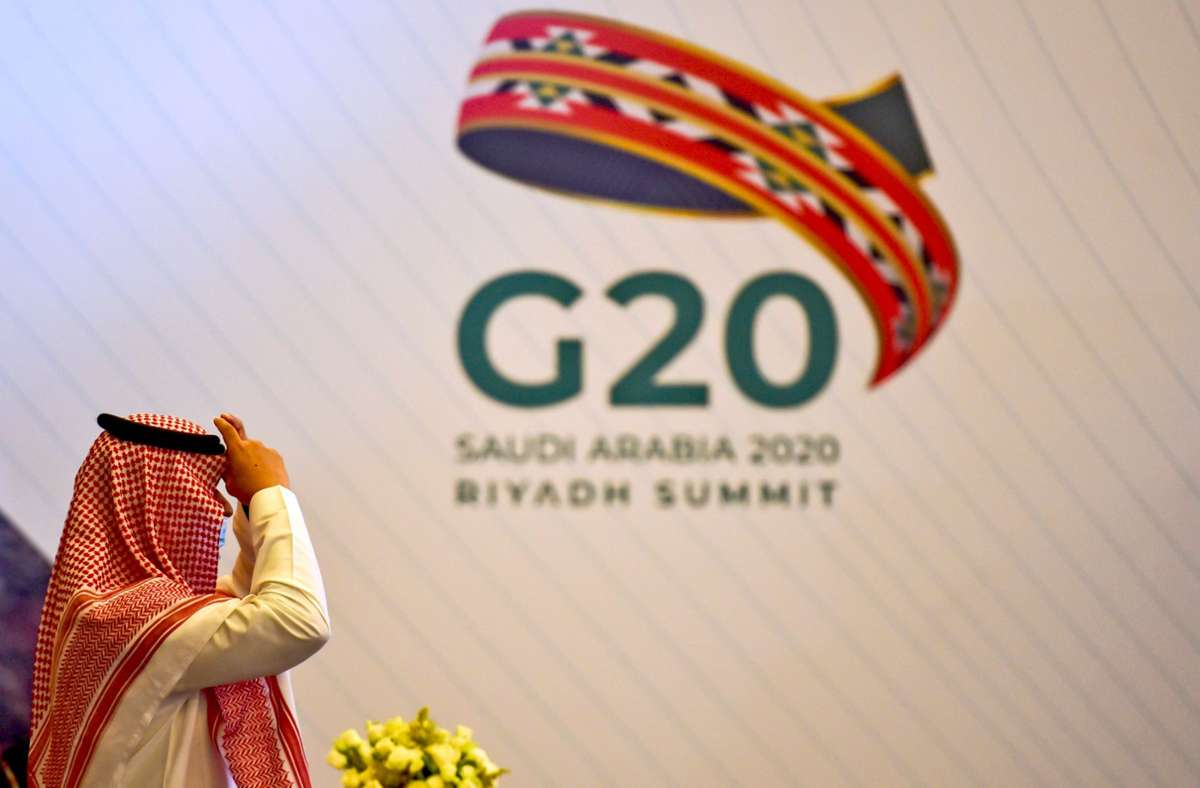 In  Riad finden viele Begleitveranstaltungen zum G20-Gipfel  statt. Die Staats- und Regierungschefs reisen am Wochenende aber nicht an, sondern werden per Video zugeschaltet. Foto: AFP/Fayez Nureldine