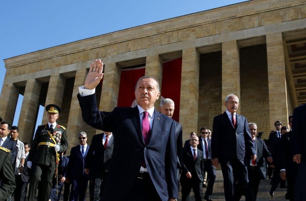 Erdogan greift nach dem Putschversuch in der Türkei hart durch. Foto: TURKISH PRESIDENT PRESS OFFICE