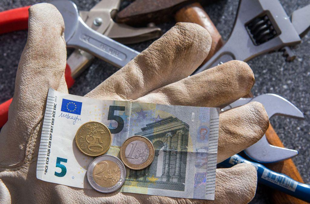 Die Einführung des Mindestlohns hat die Zahl der Minijobber im Land stagnieren lassen. Foto: dpa
