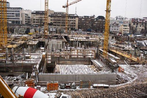 Die Milaneo-Baustelle im Januar