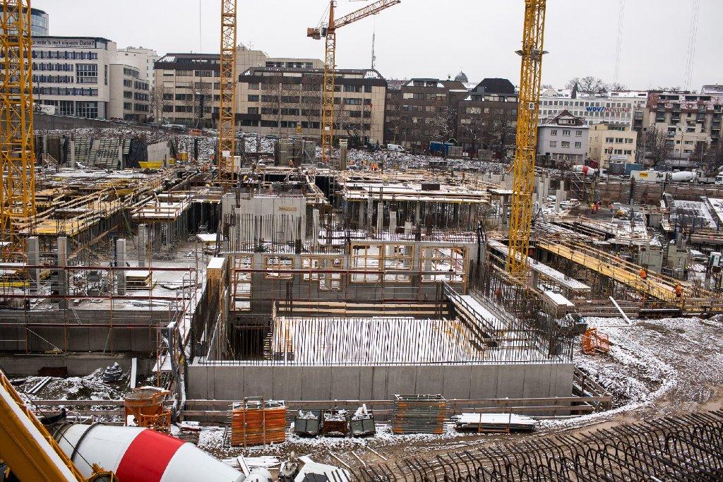 Das neue Stadtquartier im Europaviertel wächst: Klicken Sie sich durch die Baustellenbilder des Milaneo ... Foto: www.7aktuell.de   Florian Gerlach