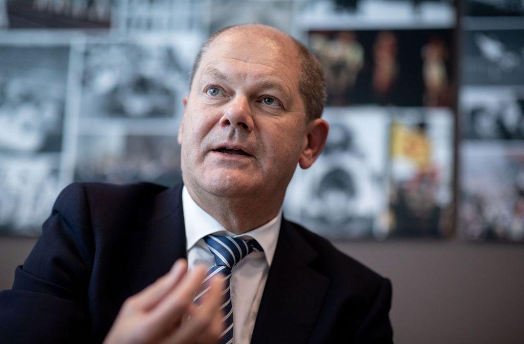Finanzminister Olaf Scholz sieht die hohe Verschuldung in vielen Teilen der Welt als Problem. Foto: dpa