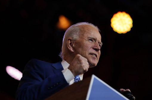Gewählter US-Präsident ruft zur Einheit im Kampf gegen Corona auf