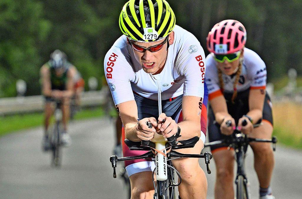 Johannes Misselwitz: Die 180,2 Kilometer auf dem Rad beim Iron Man haben es in sich. Foto: privat