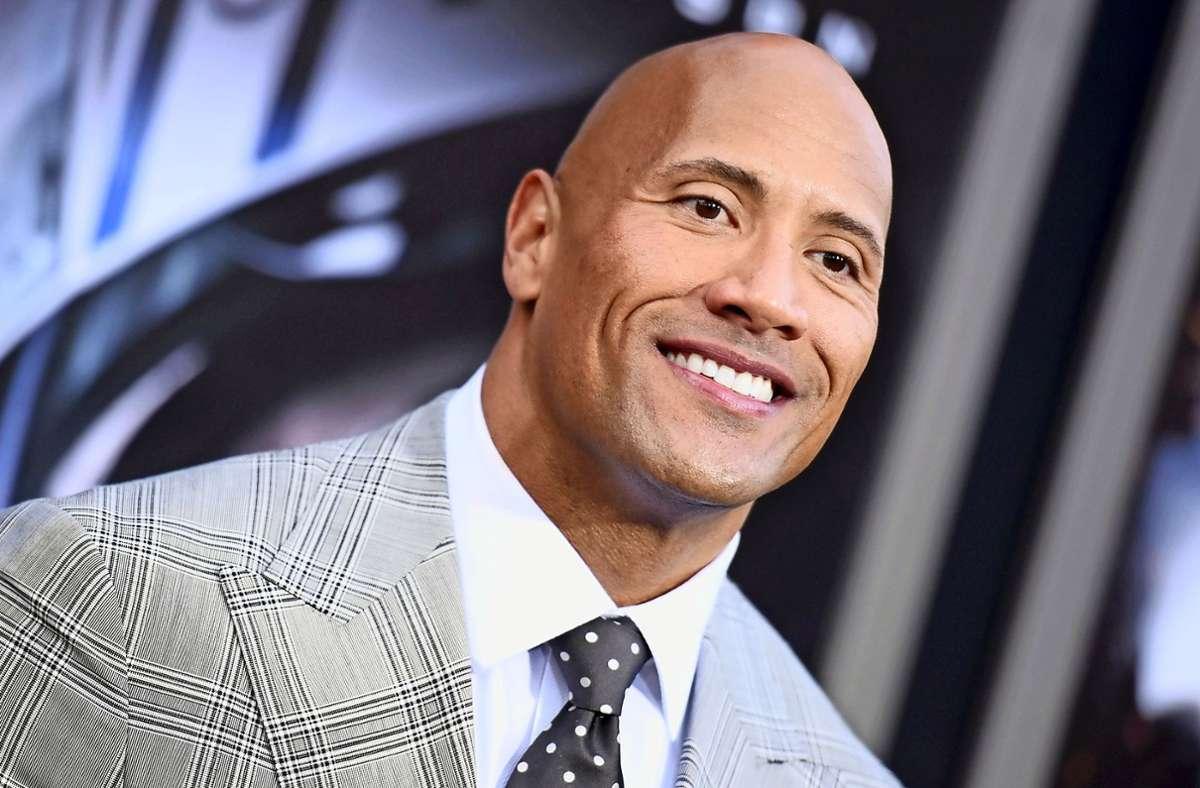 """Bei der US-Wahl will Dwayne""""TheRock""""Johnson für Joe Biden als Präsidentschaftskandidaten stimmen. Foto: dpa/Richard Shotwell"""
