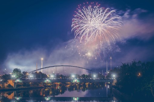 Feuerwerk und großes Finale im Grandls