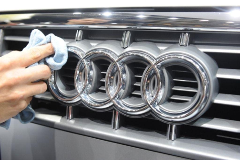 Unverkennbar, das Logo der  Firma Audi – in welcher Stadt in Baden-Württemberg befindet sich eines der Werke des Autobauers? Foto: dpa