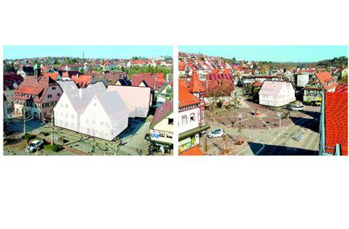 Die halbe Ortsmitte wird bis Mai abgerissen