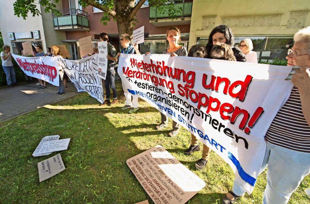 Protest von Mietern im Nordbahnhofviertel Foto: Lichtgut/Willikonsky