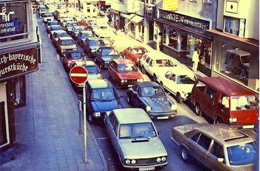 So eng war's    für die Autos einst auf der Calwer Straße