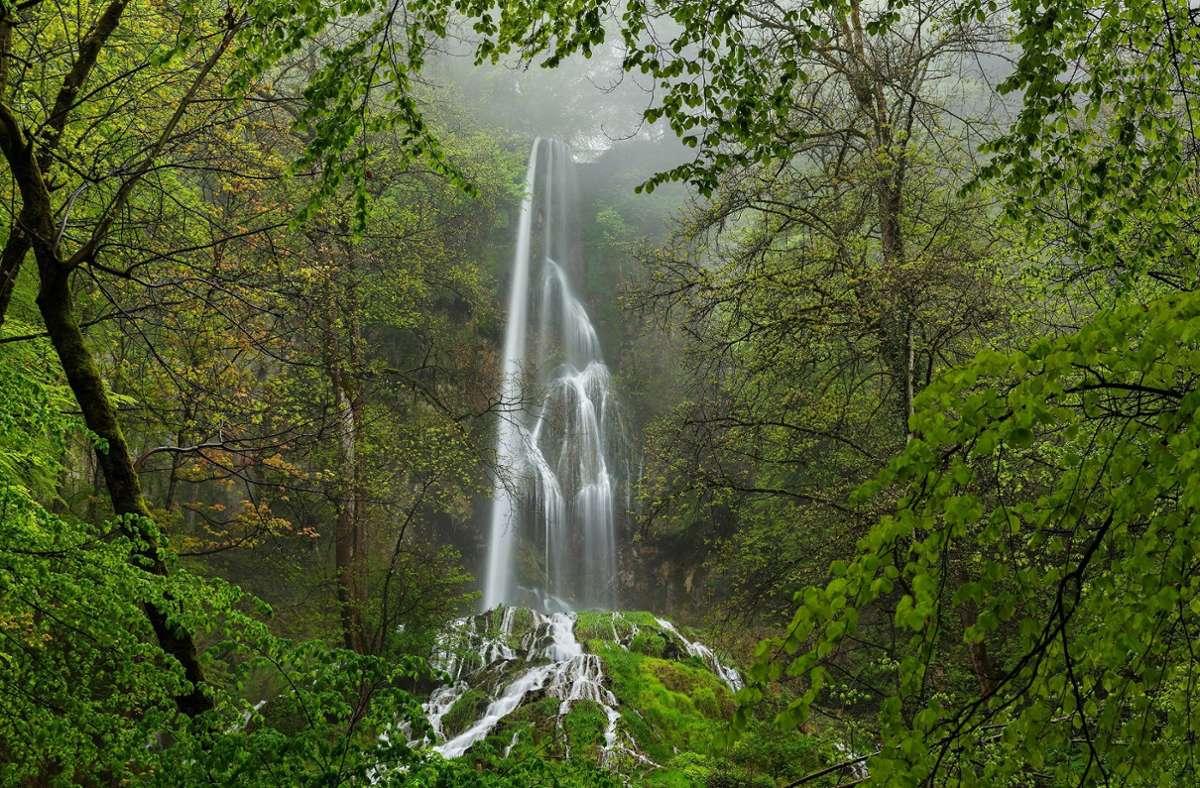 Der Uracher Wasserfall gehört  zu den spektakulärsten Fotomotiven auf der Alb. Foto: Wolfgang Trust/Schwäbische Alb Tourismus