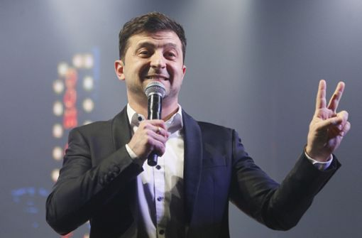 Komiker Selenski fordert Amtsinhaber Poroschenko