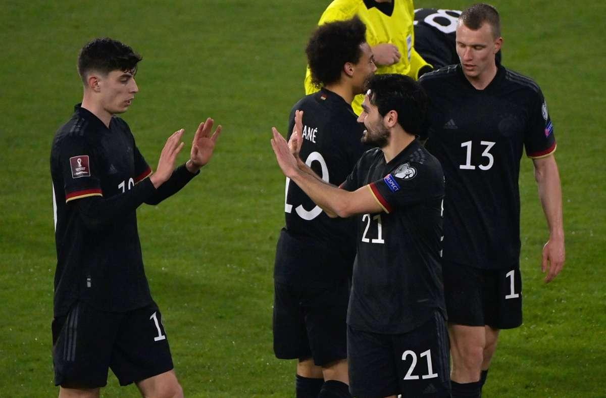 Goretzka, Havertz und Gündogan sorgen gegen Island für klare Verhältnisse. In unserer Fotostrecke bewerten wir die deutschen Nationalspieler. Foto: dpa/Tobias Schwarz