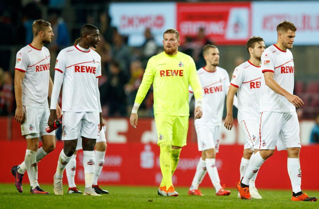 Den 1. FC Köln trifft bereits zum zweiten Mal: Schon gegen Erzgebirge Aue wurde die Partie abgesagt. Foto: Bongarts