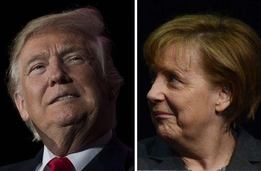 So reagiert Merkel auf die Trump-Äußerungen