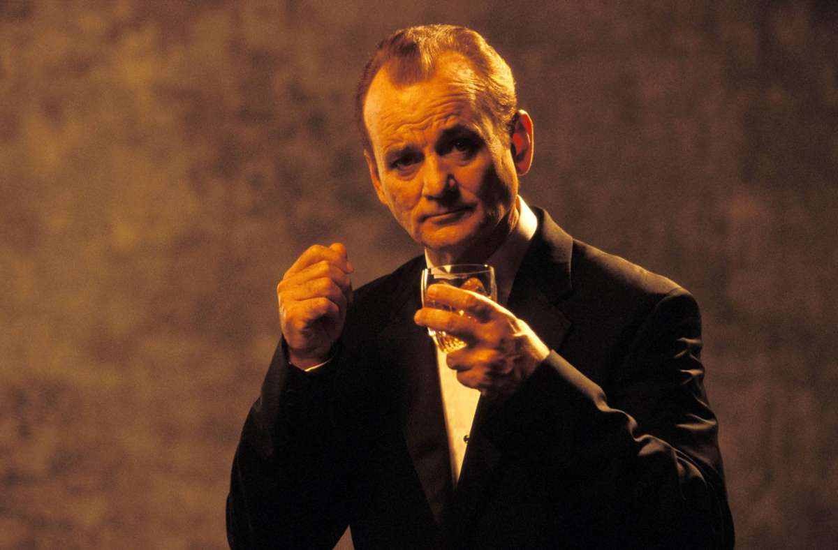 "Bill Murray als schweigsamer Whisky-Trinker in Sofia Coppolas Spielfilm-Drama ""Lost in Translation"" (2003) Foto: Imago"