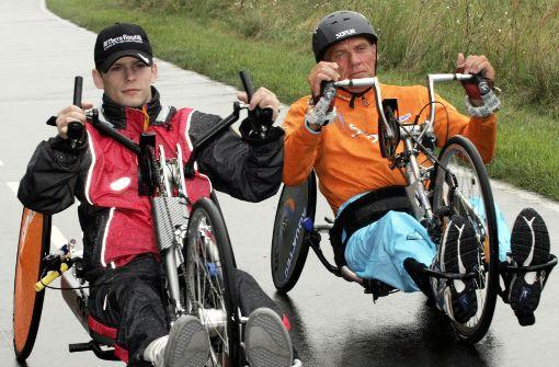 Handbike fahren ist auch eine sportliche Disziplin. Foto: dpa-Zentralbild