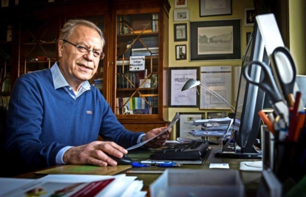 Hans-Dieter Mechler ist zwar im Ruhestand. Von Ruhe kann bei ihm aber keine Rede sein. Er engagiert sich mit voller Kraft im Ehrenamt. Foto: Lichtgut/Achim Zweygarth