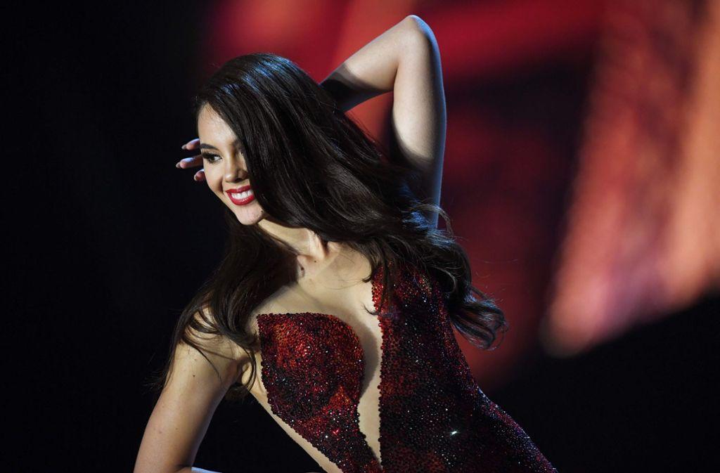 Die 24-Jährige gewann am Montag in Bangkok das Finale im Miss-Universe-Wettbewerb.  Foto: AFP