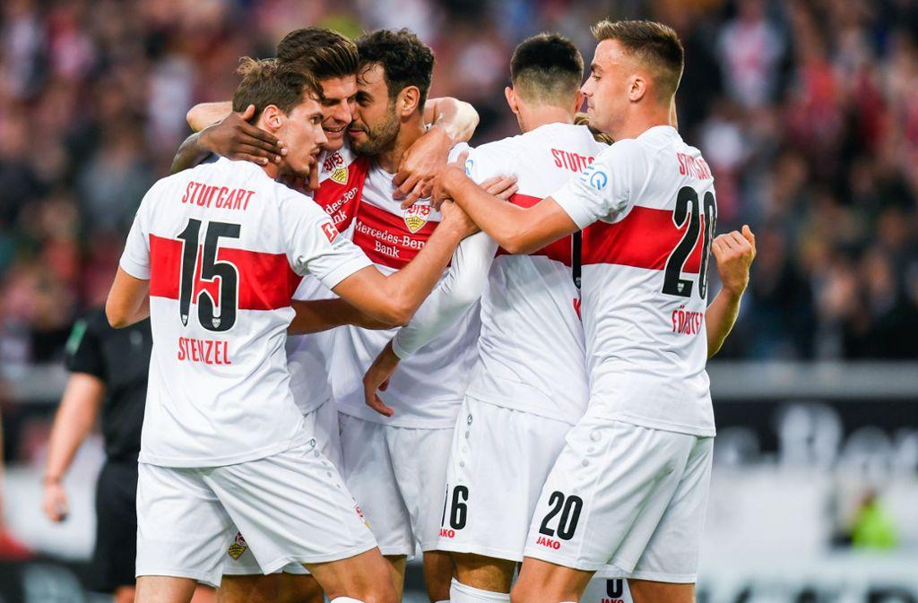 Der VfB Stuttgart hatte in der laufenden Saison bislang durchaus Grund zu jubeln. Redaktion und Leser haben die einzelnen Akteure bis dato wie folgt bewertet. Foto: dpa/Tom Weller
