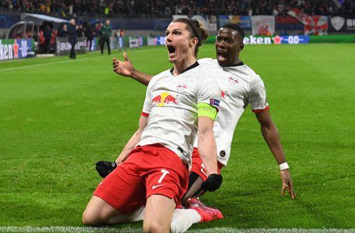 Leipzig nach 3:0 gegen Tottenham im Viertelfinale