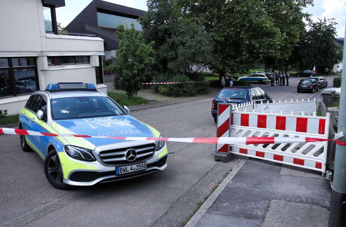 Am Sonntag sind in Allmersbach im Tal die Leichen einer Frau und ihrer Tochter gefunden worden. Foto: 7aktuell.de/Kevin Lermer