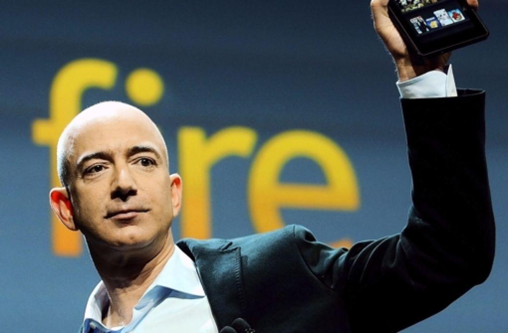 Der Amazon-Chef präsentiert 2011 den Kindle Fire. Foto: EPA