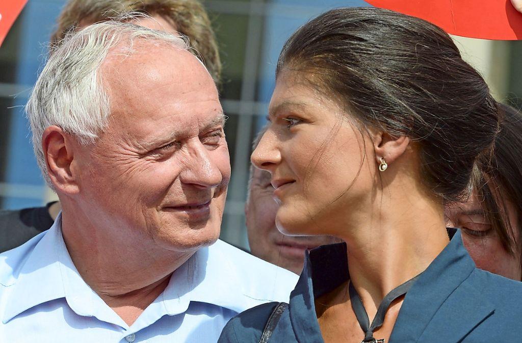 Sie wollen eine Mehrheit für linke Politik organisieren: Sahra Wagenknecht und Oskar Lafontaine Foto: dpa