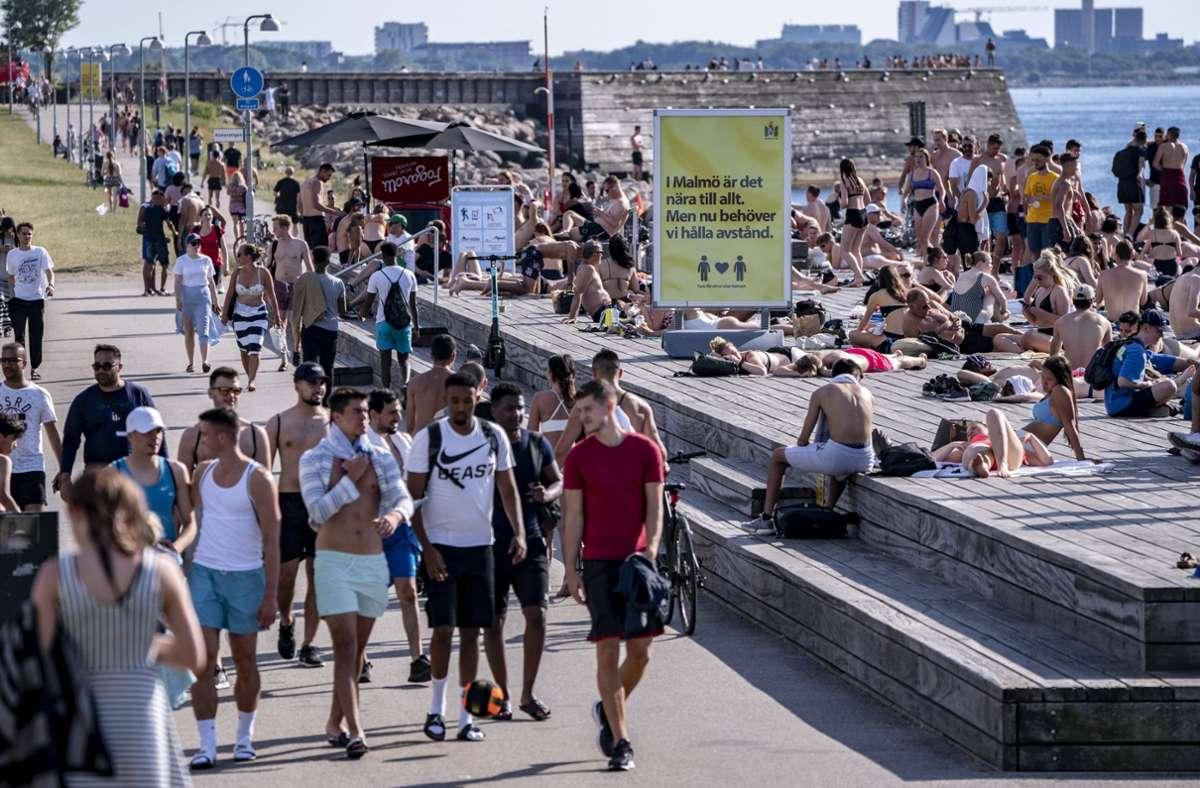 In Schweden gibt es in der Corona-Pandemie weniger Beschränkungen. Foto: imago images/TT/Johan Nilsson