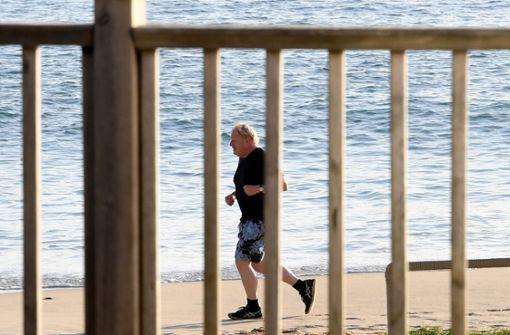 Boris Johnson joggt vor G7-Sitzungen