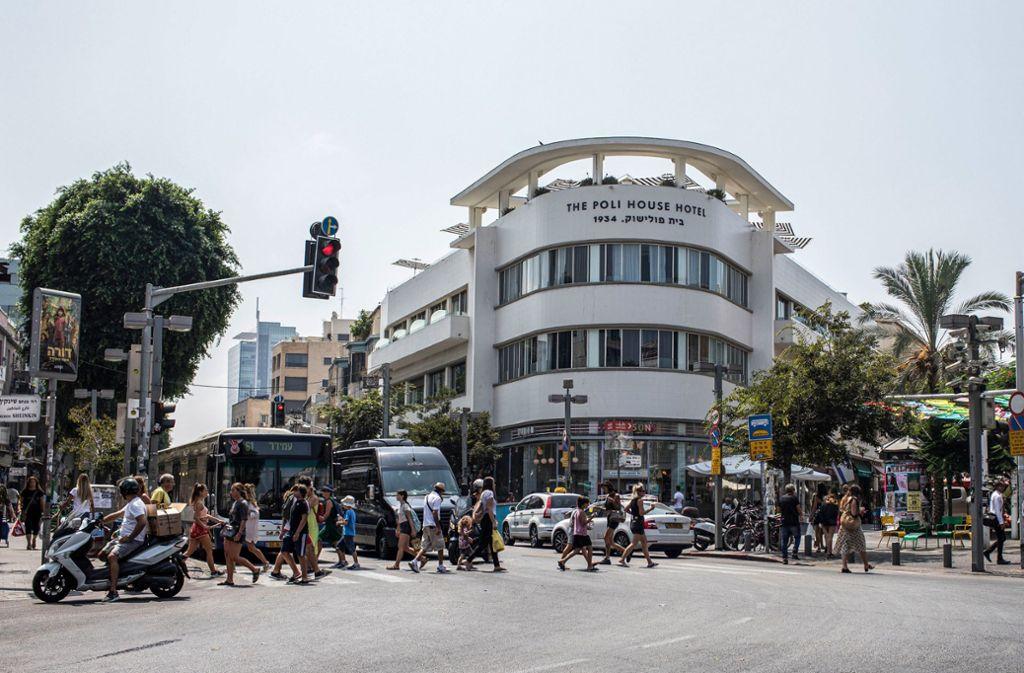 Das Weiße-Stadt-Zentrum in Tel Aviv Foto: dpa/Ilia Yefimovich