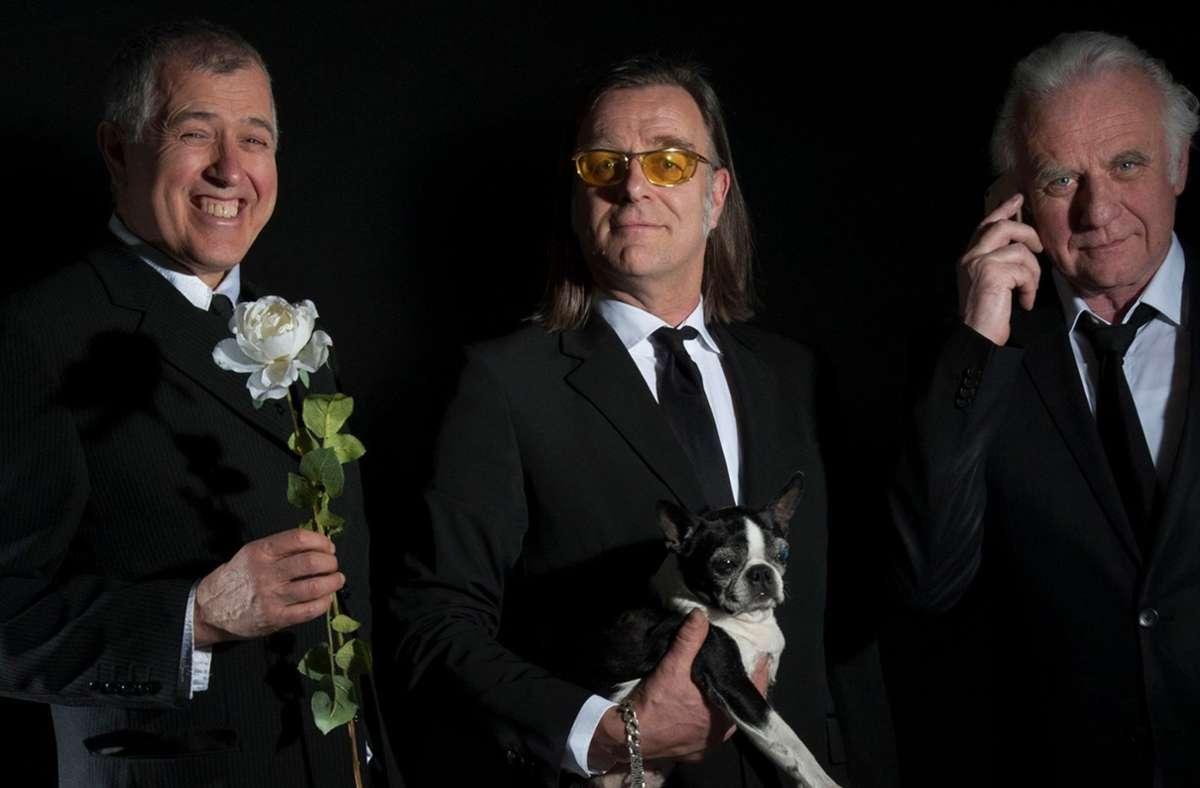 Comedy-Künstler in geheimer Mission: DAs Trio KGB mit Otto Kuhnle,  Michael Gaedt und Roland Baisch. Foto: KGB-Comedy/KGB-Comedy