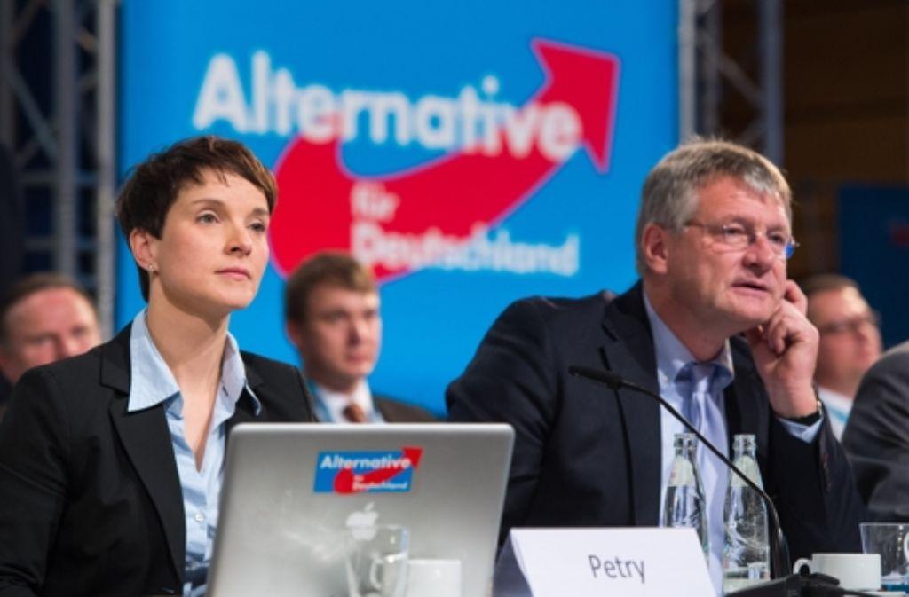 Frauke Petry und Jörg Meuthen beim AfD-Parteitag. Foto: Getty Images Europe