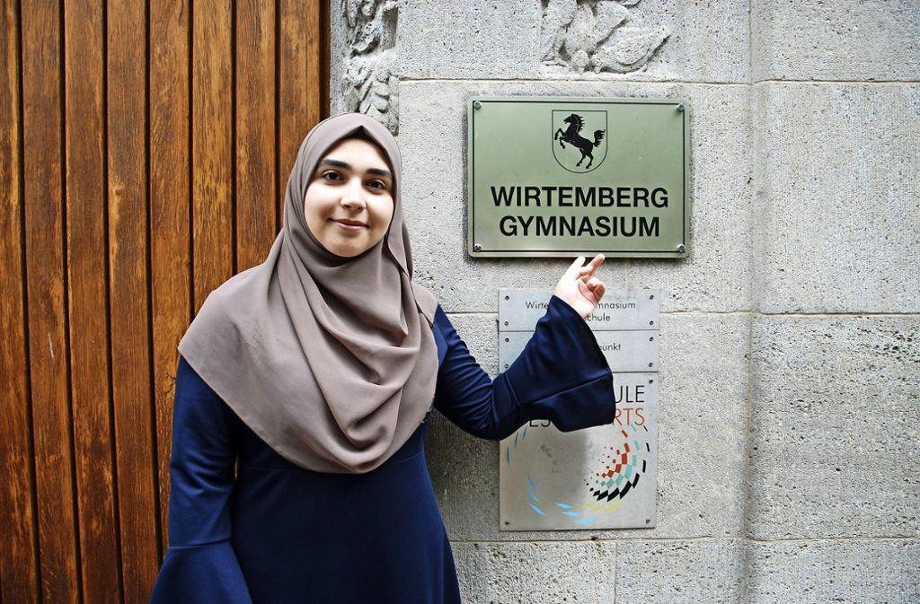 Semina Aslani hat das  beste Ergebnis am Wirtemberg-Gymnasium. Foto: Mathias Kuhn