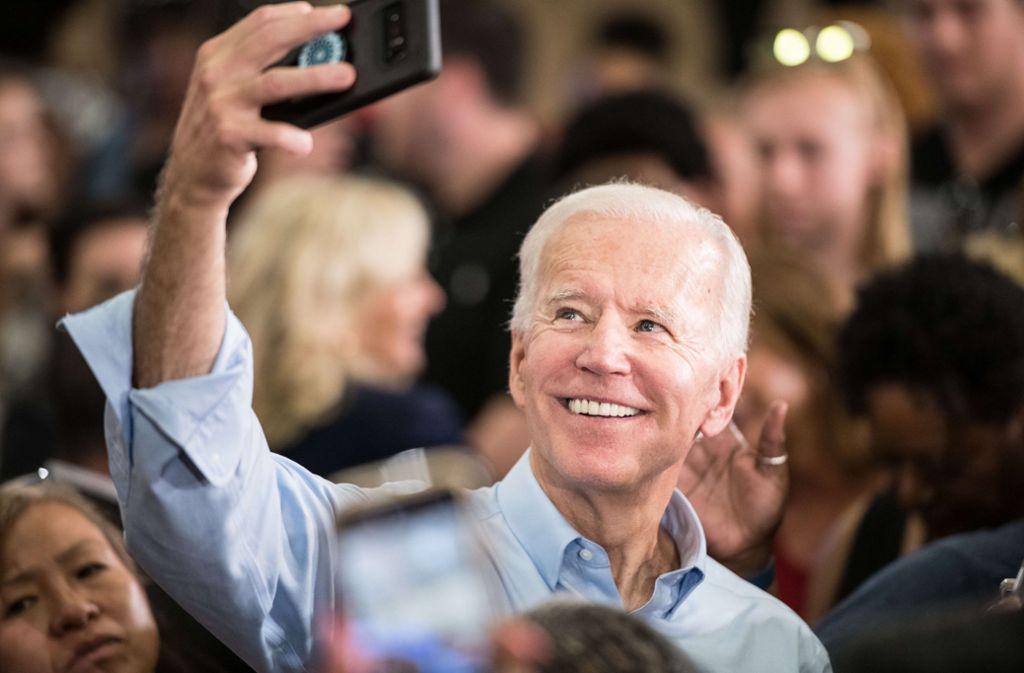 Joe Biden steht eher für die Vergangenheit als die Zukunft der demokratischen Partei – und liegt in Umfragen dennoch uneinholbar vorn. Foto: AFP
