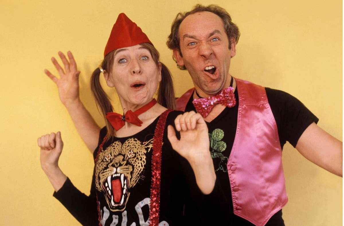 Traumpaar einer längst vergangenen TV-Epoche: Helga Feddersen und Didi Hallervorden Foto: imago images/United Archives