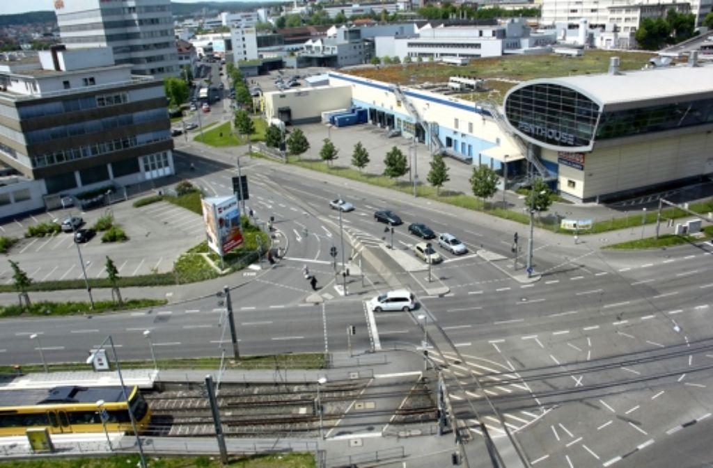 Dort, wo die Borsig- in die Heilbronnerstraße übergeht, beginnt der erste Bauabschnitt. Foto: Friedel