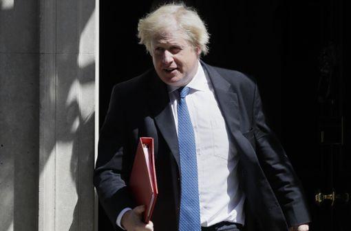 Britischer Außenminister Boris Johnson zurückgetreten
