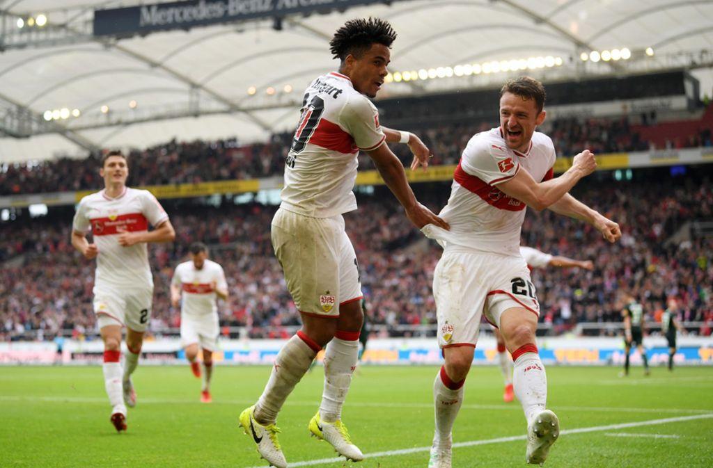 Daniel Didavi sorgte für das 3:0 gegen den VfL Wolfsburg. Foto: Pressefoto Baumann