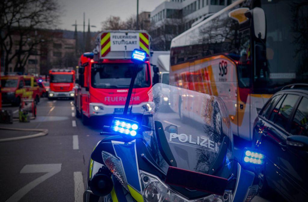 Die Feuerwehr wurde zu einem Brand zum Rotebühlplatz gerufen. Foto: 7aktuell.de/ NR
