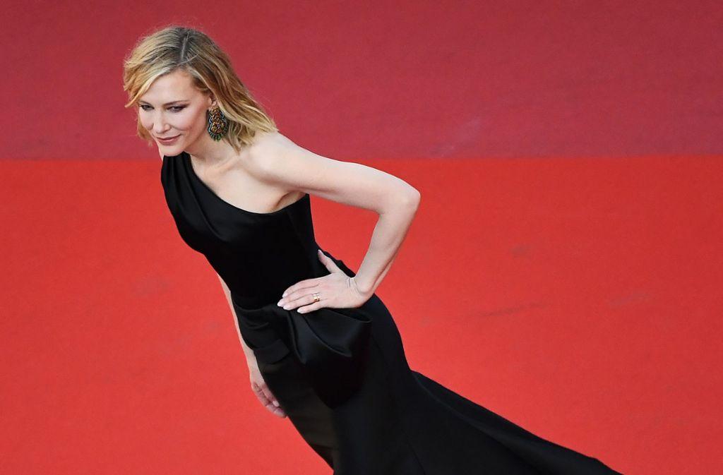 Jurypräsidentin Cate Blanchett sorgte beim Filmfestival in Cannes für Aufsehen – und mit ihr 81 weitere Frauen. Foto: AFP